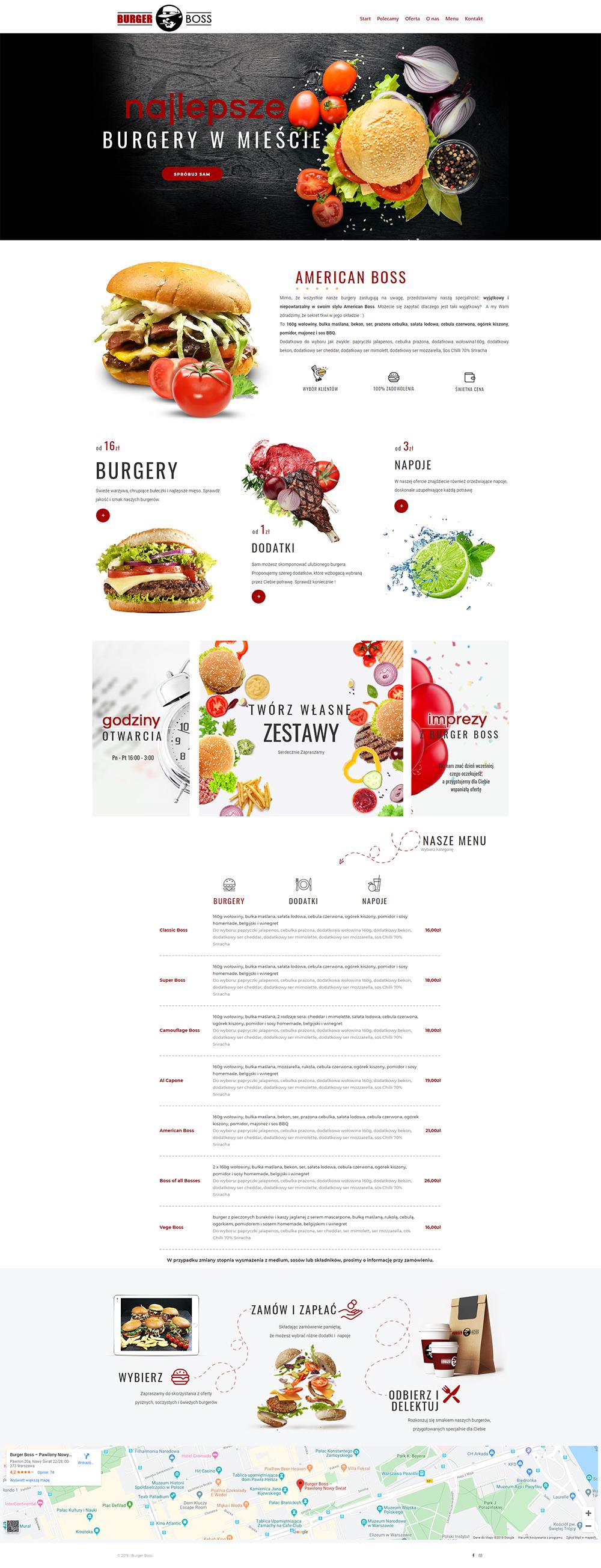 rostar - strony sklepy internetowe - burger boss