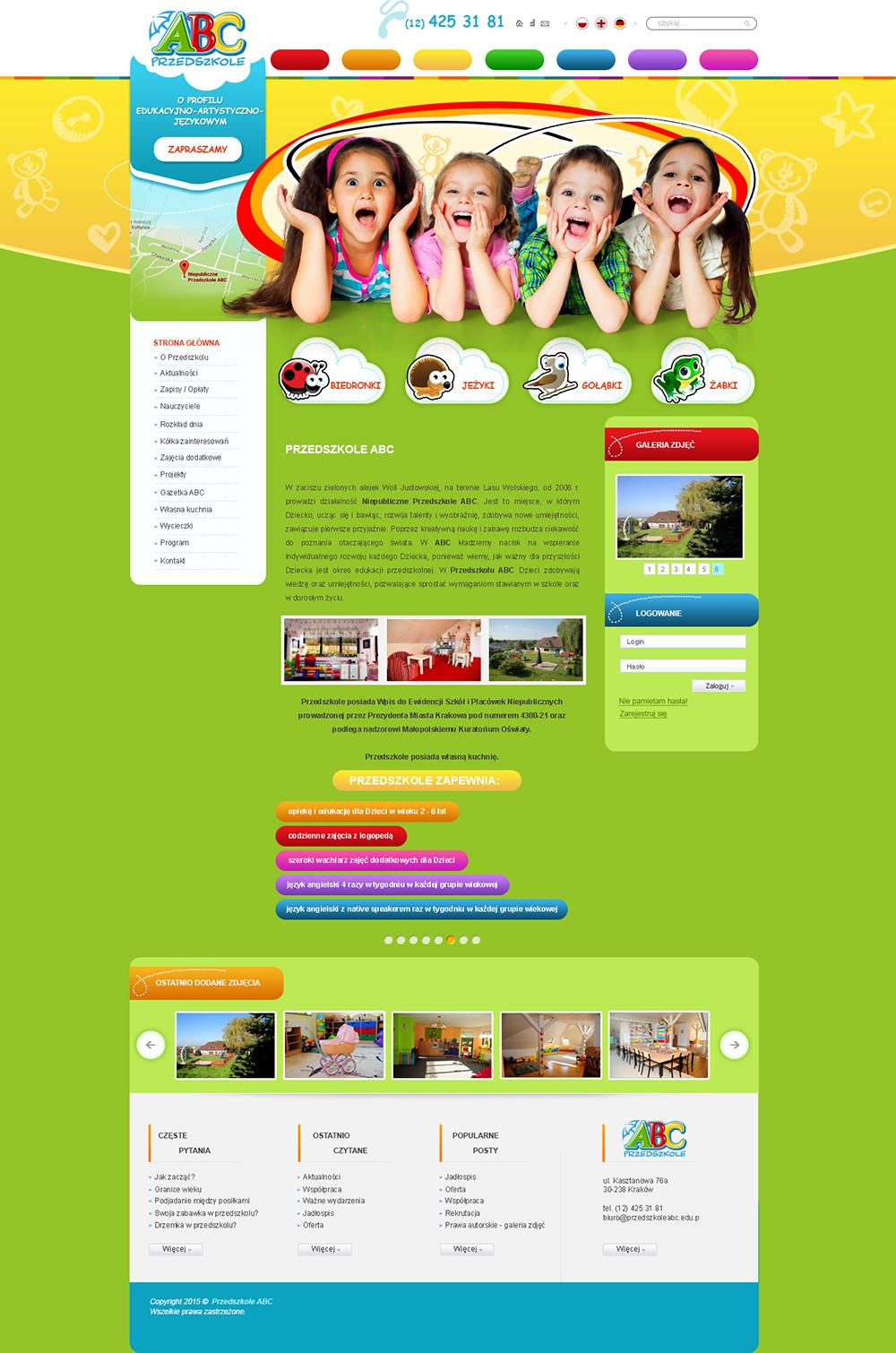 rostar - strony sklepy internetowe - przedszkole abc